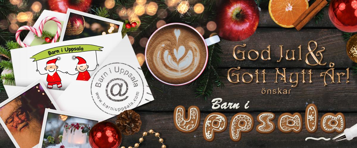 En god jul och gott nytt år önskar Barn i Uppsala!