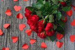 Alla hjärtans dag ( Bukett med röda rosor)
