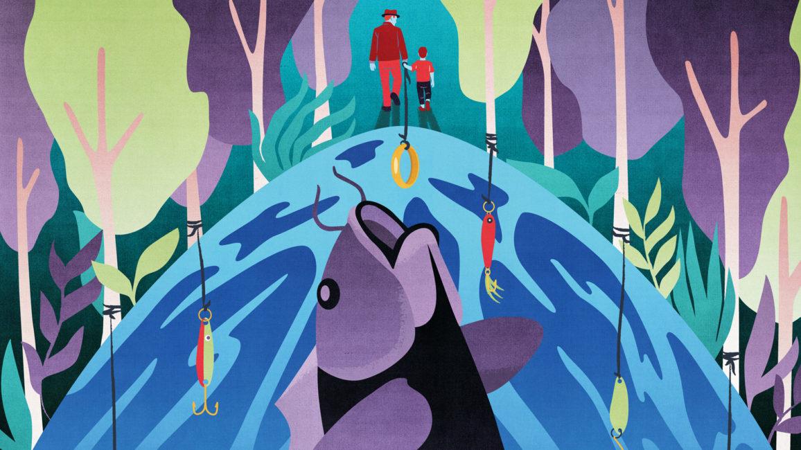 Big fish (dekorativ affisch för teateruppsättningen)